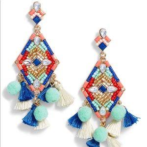 Rebecca Minkoff Tassel & Pompom Statement Earrings